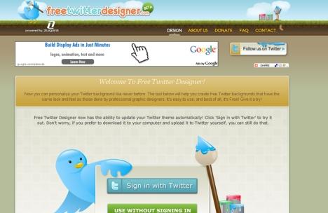 Clique na imagem para ir para a página o Free twitter designer